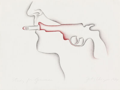 Judy Chicago, 'Study for Gunman', 1984