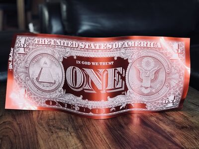 Karl Lagasse, 'One Dollar - Red', 2018