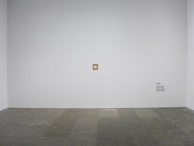 Ignasi Aballí, 'Diez blancos (blanco plata)', 2015