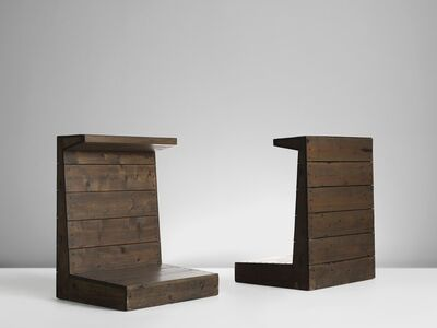 Dom Hans Van Der Laan, 'Two Wooden Shrines of Stools, The Netherlands', 1960's