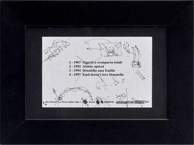 Emilio Prini, 'Untitled', 1997