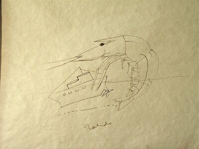 Francisco Toledo, 'Cameron y barco', 1974