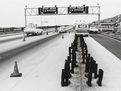 Eleanor Antin, '100 Boots at the Checkpoint, San Onofre, California', 1972