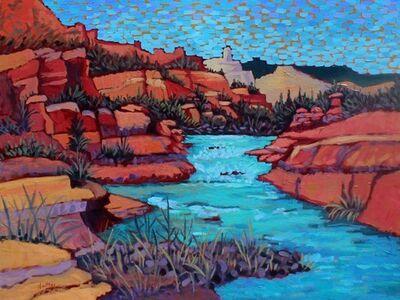 "Claudia Hartley, '""Slide Rock Waters""', 2017"