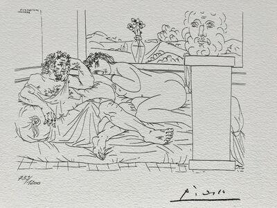 Pablo Picasso, 'Le repos du sculpteur IV (Suite Vollard Planche LXV)', 1973