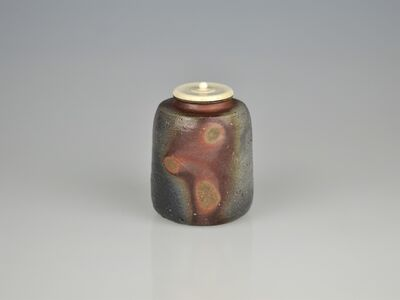 Isezaki Shin, 'Outstanding Bizen Tea Caddy with Three Reserve Decor and Kiln Mutation', 2010-2019