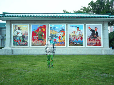 Liu Bolin, 'Hiding in North Korea - Posters', 2018