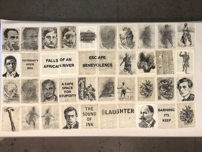 "William Kentridge, 'Drawing for Soft Dictionary (""Earning Its Keep"")', 2018"