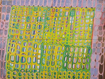 Martha T. Jones, 'Large Stripe and Net Painting', 2019