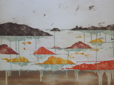 Pierre-Marie Brisson, 'Paysage original aquatint '