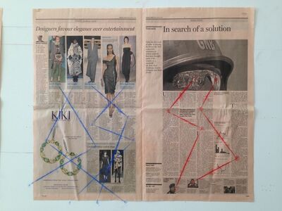 G.T. Pellizzi, 'Financial Times (Chavez, Drawing 7)', 2015