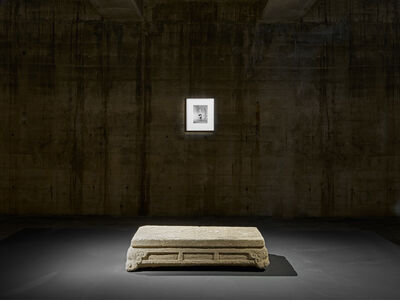 Nobuyoshi Araki, 'Installation view of The Feuerle Collection.  Nobuyoshi Araki, Tokyo Comedy with Stone Table, Song Dynasty to early Ming Dynasty, China, 10th Century – 15th Century, Limestone'