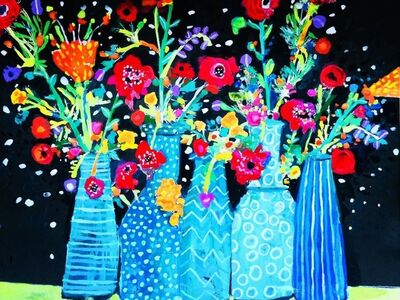 Andee Axe, 'Flowers in Vases', 2020