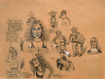 R. Crumb, 'Aline's 50th birthday, August 1st, 1998', 1998