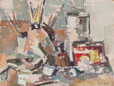 Herbert Barnett, 'Still Life: Art Materials', ca. 1964
