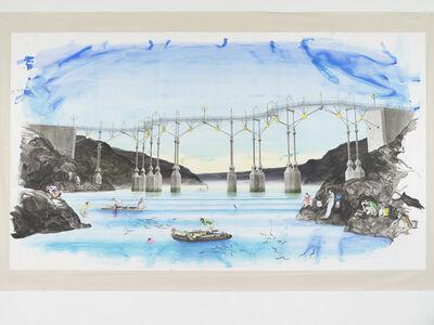 Charles Avery, 'Untitled (Eel fishing beneath the bridge (Era of the Pentagon)', 2021