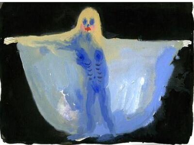 Allison Schulnik, 'Blue Dancer #3', 2013