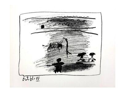 "Pablo Picasso, 'Original Lithograph ""Les Banderillas"" by Pablo Picasso', 1961"