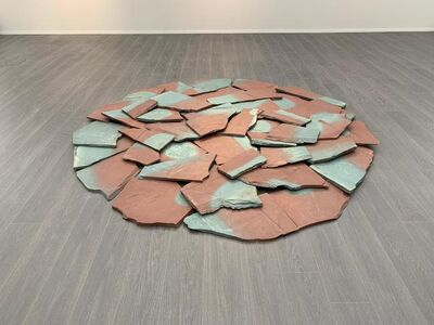 Richard Long, 'Red-blue slate circle', 1985