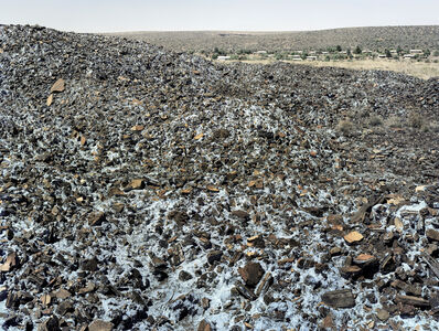 David Goldblatt, 'Highly carcinogenic blue asbestos waste on the Owendale Asbestos Mine tailings dump, near Postmasburg, Northern Cape. The prevailing wind was in the direction of the mine officals' houses at right. 21 December 2002', 2002