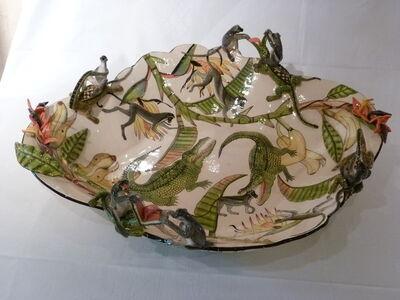 Ardmore, 'Monkey and crocodile bowl', 2016