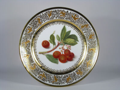 Sèvres Porcelain Manufactory, 'Botanical Plate (from a set of five)', 1822