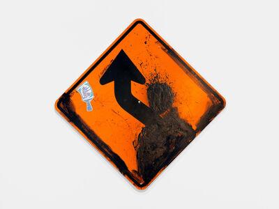 Richard Hambleton, 'Orange Metal Sign', 1999