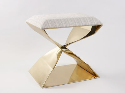 Carol Egan, ''Sculptural Twist' Bronze Stool', 2014
