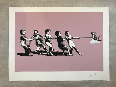 Blek le Rat, 'Rope Pulling (Pink)', 2018