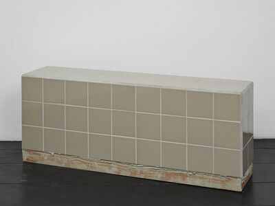 Calla Henkel and Max Pitegoff, 'Reading bench (brown)', 2016