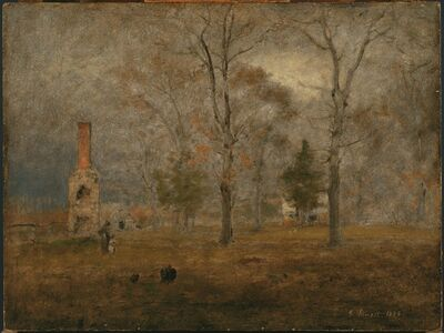George Inness, 'Gray Day, Goochland', 1884