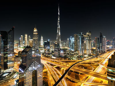 Andrew Prokos, 'View of Burj Khalifa and Dubai at Night', 2020