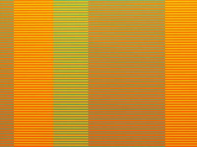 Matthew Kluber, 'Split Infinitives (orange, aqua, chartreuse)', 2019