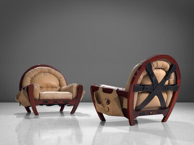Luciano Frigerio, 'Pair of 'Rancero' Lounge Chairs', 1970s
