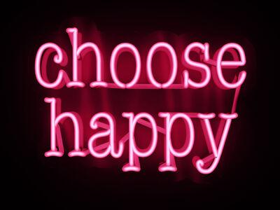Mary Jo McGonagle, 'choose happy - neon art work', 2021