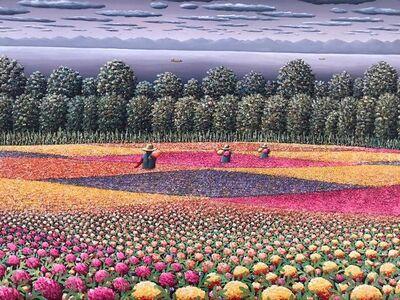 Casiano García, 'Entre recuadros de flores ', 2020