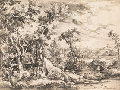 Jan Van Londerseel, 'Jacob and the Angels, after G.C. de Hondecoeter', 1614