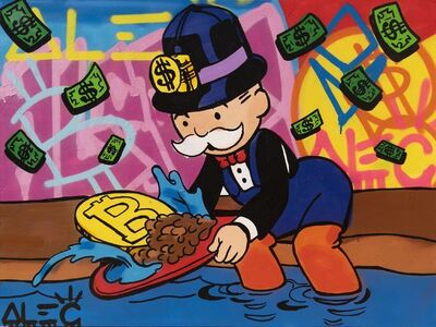 Alec Monopoly, 'Monopoly Panning for Bitcoin', 2021