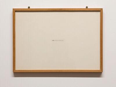 Giovanni Anselmo, 'Dissolvenza', 1973