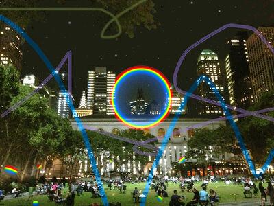 Carlos Rodal, 'Circular Rainbow over the NYC Public Library', 2019