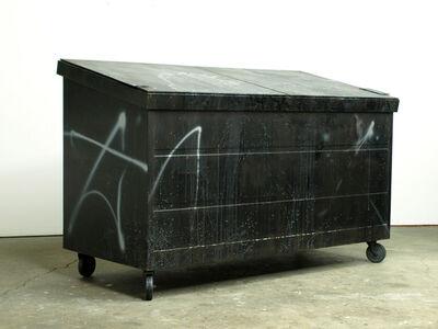 Kaz Oshiro, 'Dumpster (black with white residue)', 2014