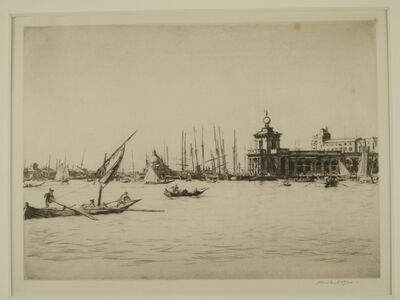 Muirhead Bone, 'Bacino, Venice', ca. 1920