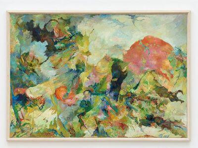 Bernard Schultze, 'dieser rote Hügel Kopf', 1987