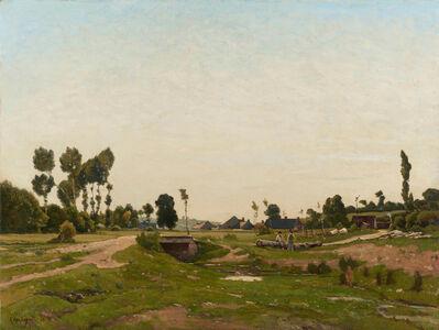 Henri-Joseph Harpignies, 'Conversation près du ruisseau', 1883