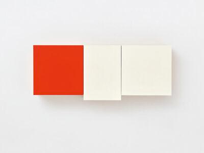 Imi Knoebel, 'Ohne Titel – Rot Weiß Weiß', 1990