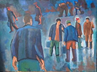 Salvatore Del Deo, 'Racepoint Station New Year's Eve', 2017