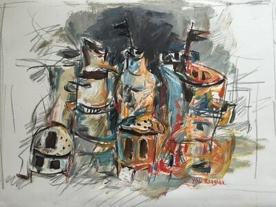 "Yosl Bergner, '""Untitled"" Spice Towers and Vessels', 20th Century"