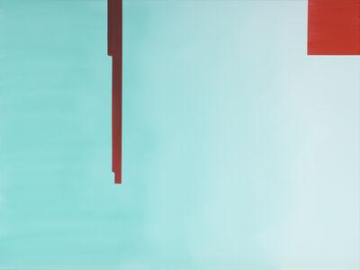 Wanda Koop, ' In Absentia (Pale Aqua - Scarlet Red)', 2016