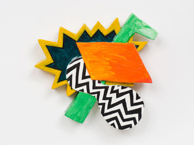 William Slowik, 'Zulu Hammer (Green vertical element with black and white zig zag)', 2012