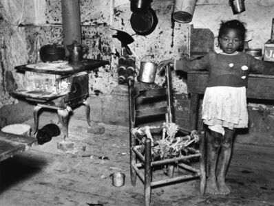 Marion Post Wolcott, 'Tenant's Daughter in Kitchen of Dilapidated Home, MS', 1939